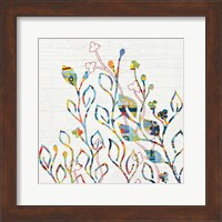 Framed Rainbow Vines with Flowers