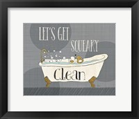 Framed Squeaky Clean I
