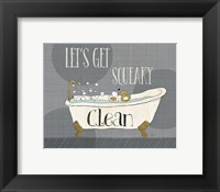Squeaky Clean I Framed Print