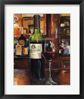 A Reflection of Wine III Framed Print