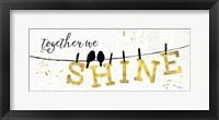 Shine Like Gold I Framed Print