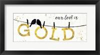 Shine Like Gold II Framed Print
