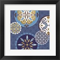 Framed Mediterranean Blue II
