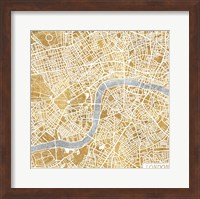 Framed Gilded London Map