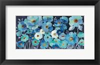 Framed Indigo Flowers