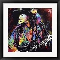 Framed Stevie Ray Vaughan