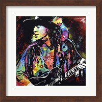 Framed Stevie Ray Vaughan