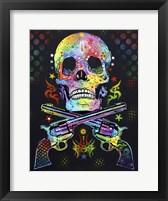 Framed Skull & Guns