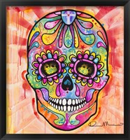 Framed Sugar Skull - Day of the Dead