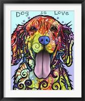 Framed Dog Is Love