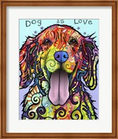 Framed Dog Is Love