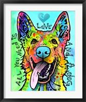 Framed Love And A Dog