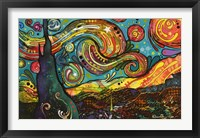 Framed Starry Night