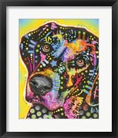 Framed Dotted Dog