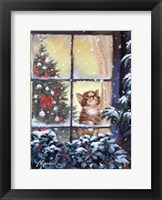 Framed Kitten And Snow