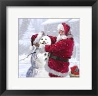 Framed Santa And Snowman 1