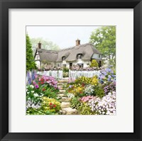 Framed English Cottage