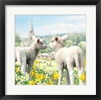 Framed Easter Lambs