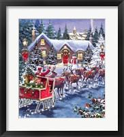Framed Santa And Sleigh