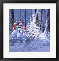 Framed Snow Family 1