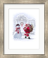 Framed Santa And Sack