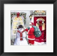 Framed Santa And Snowman 2