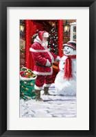Framed Snowman's List