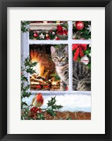 Framed Tabby Cat 2