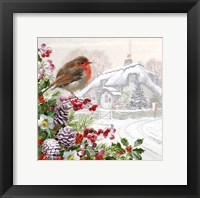 Framed Winter Robin