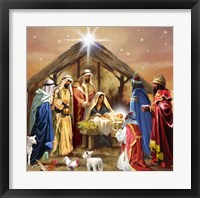 Framed Nativity Collage