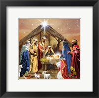Nativity Collage Framed Print