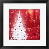 Framed Red Christmas Scene
