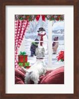 Framed Westie At Window