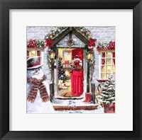 Framed Red Front Door