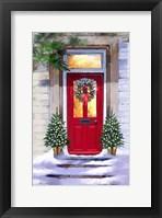 Framed Xmas Red Door 2