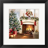 Framed Xmas Fireplace 2