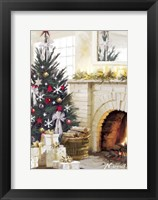Framed White Fireplace