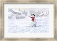 Framed Making Snowman 3