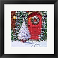Framed Red Door 2