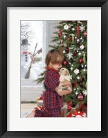 Framed Boy With Puppy