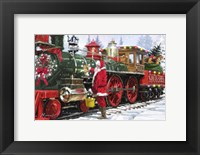Framed Santa's Train 1