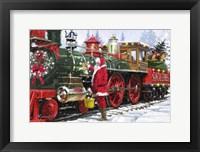 Framed Santa's Train 1