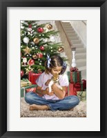 Framed Girl With Kitten