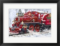 Framed Santa's Train 2