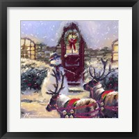 Framed Reindeer And Snowman 2