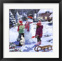 Framed Snowman 2