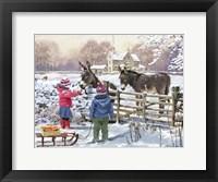 Framed Kids And Donkey
