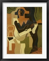 Framed Harlequin with Guitar, 1919