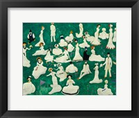 Framed Rest: High Society in Top Hats, 1908