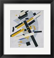Framed Suprematism (Supremus, no 58 Black and Yellow), 1916